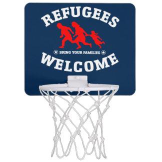 Flüchtlings-Willkommen holen Ihre Familien Mini Basketball Netz