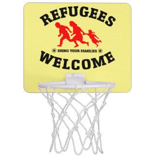 Flüchtlings-Willkommen holen Ihre Familien Mini Basketball Ring