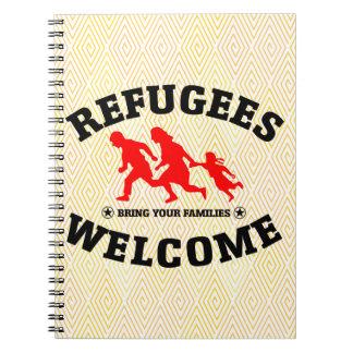 Flüchtlings-Willkommen holen Ihre Familien Notizblock