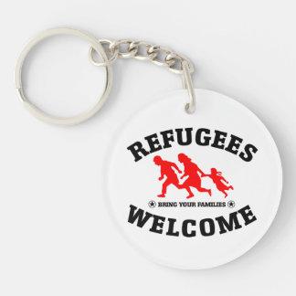 Flüchtlings-Willkommen holen Ihre Familien Schlüsselanhänger