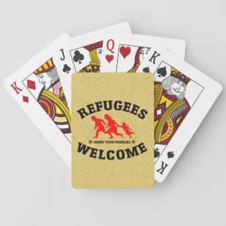 Flüchtlings-Willkommen holen Ihre Familien Spielkarten