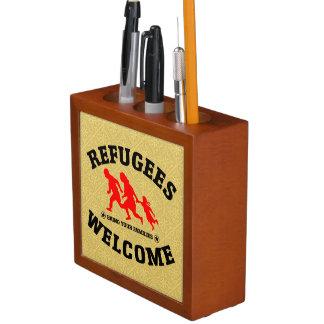 Flüchtlings-Willkommen holen Ihre Familien Stifthalter