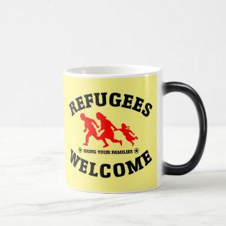 Flüchtlings-Willkommen holen Ihre Familien Verwandlungstasse