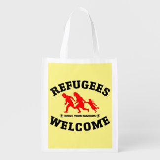 Flüchtlings-Willkommen holen Ihre Familien Wiederverwendbare Einkaufstasche