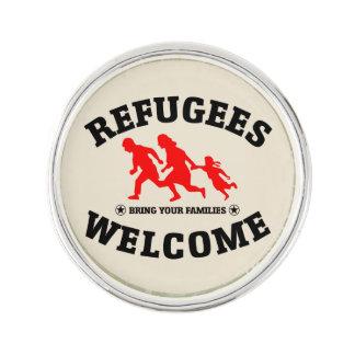 Flüchtlings-Willkommen holen Ihren Familien Anstecknadel