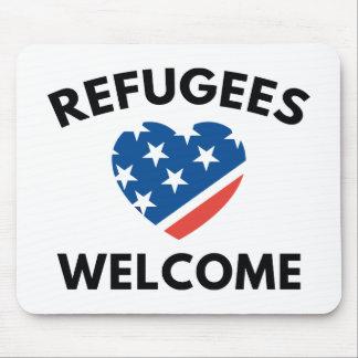 Flüchtlings-Willkommen Mousepad