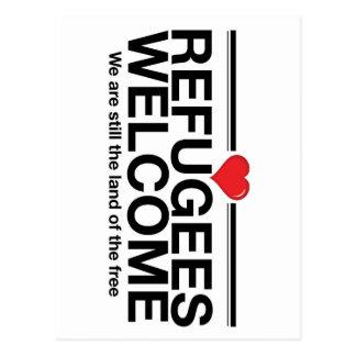 Flüchtlings-Willkommen Postkarte