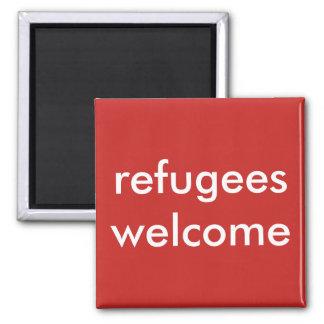 Flüchtlingswillkommen Quadratischer Magnet