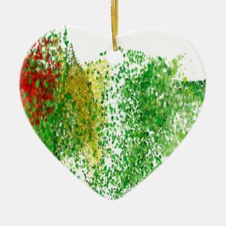 Flug farbige Partikel in der Luft Keramik Herz-Ornament