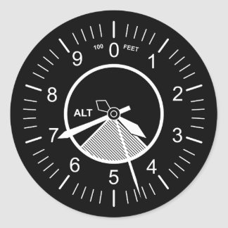 Flug-Instrumente Runder Aufkleber