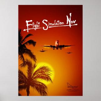 Flug-Simulation jetzt Poster
