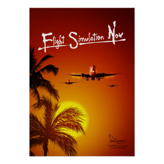 Flug-Simulation jetzt Posterdrucke