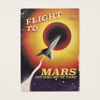 Flug zu den Mars! Vintages Plakat ScifI Visitenkarte