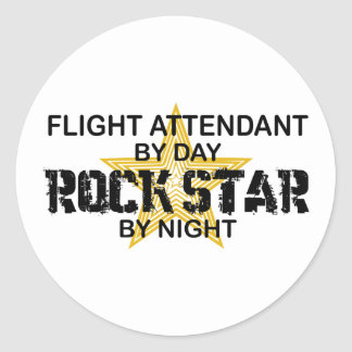 Flugbegleiter-Rockstar Runder Aufkleber