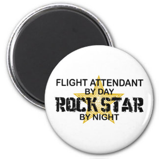 Flugbegleiter-Rockstar Runder Magnet 5,7 Cm