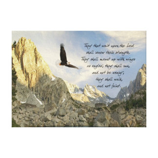 Flügel als Eagles Jesaja 4o Leinwanddruck