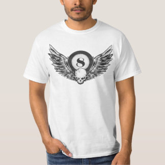 Flügel des Schädels 8_ball T-Shirt