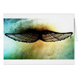 Flügel durch hochauflösenden Druck Jill Grußkarte