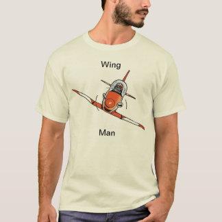 Flügel-Mann-lustiges Luftfahrt-Cartoon-Shirt T-Shirt