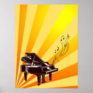 Flügel merkt Gelb und Gold Poster