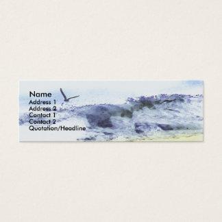 Flügel über Wasser | Wasserfarbe Mini Visitenkarte