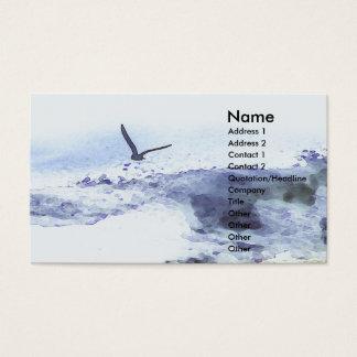Flügel über Wasser | Wasserfarbe Visitenkarte