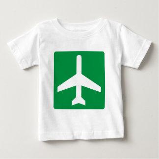 Flughafen Higway Zeichen Baby T-shirt