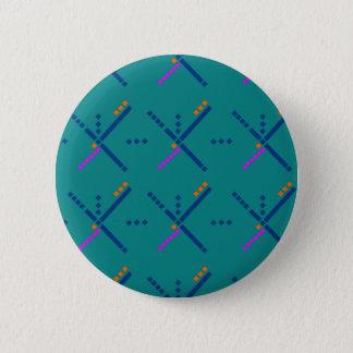 Flughafen-Teppich Portlands Oregon PDX Runder Button 5,7 Cm