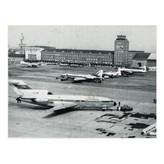 Flughafenfünfziger jahre Vintagen Deutschlands, Postkarte