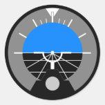 Fluglageanzeiger-Messgerät Runder Aufkleber