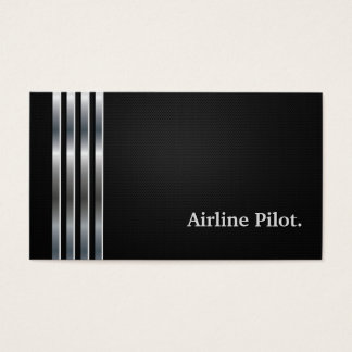 Fluglinien-berufliches schwarzes Versuchssilber Visitenkarte