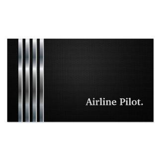 Fluglinien-berufliches schwarzes Versuchssilber Visitenkarten