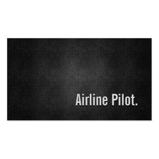 Fluglinien-coole schwarze visitenkarten