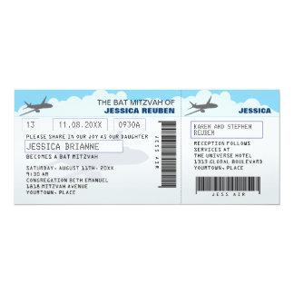 Fluglinien-Karten-Bar-Schläger Mitzvah 10,2 X 23,5 Cm Einladungskarte