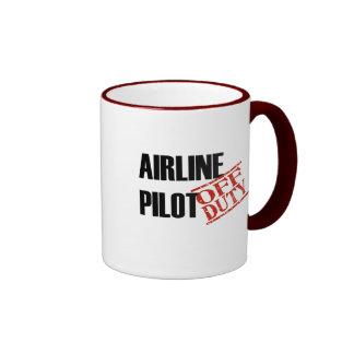 Fluglinien-Pilot Ringer Tasse