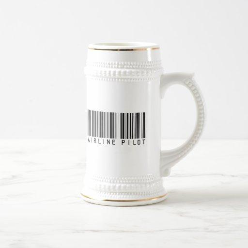 Fluglinien-VersuchsBar-Code Kaffeetassen