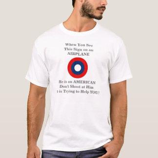Fluglinienverkehr-warnendes Broschüren-T-Stück T-Shirt