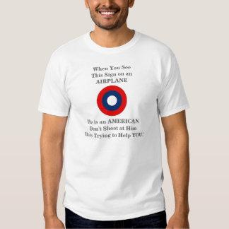 Fluglinienverkehr-warnendes Broschüren-T-Stück Tshirts