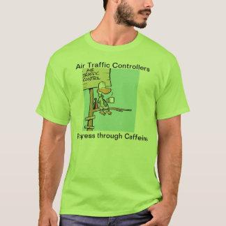 Fluglotse-Kaffee-Witz-Shirt T-Shirt