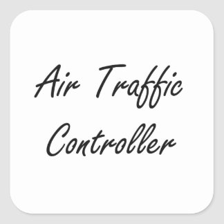 Fluglotse-künstlerischer Job-Entwurf Quadrat-Aufkleber