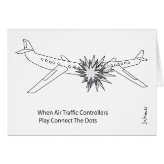 Fluglotsen Grußkarte