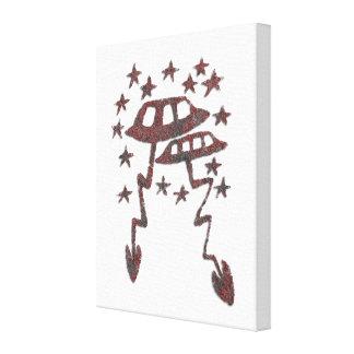 Flugobjekt-Petroglyphe Leinwanddruck