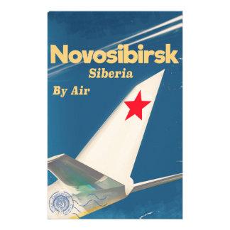 Flugplakat Nowosibirsks Sibirien die Sowjetunion Briefpapier
