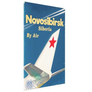 Flugplakat Nowosibirsks Sibirien die Sowjetunion Leinwanddruck