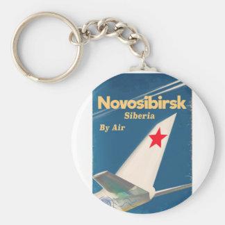 Flugplakat Nowosibirsks Sibirien die Sowjetunion Schlüsselanhänger