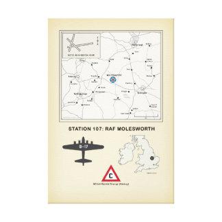 Flugplatz-Karte Molesworth Leinwanddruck