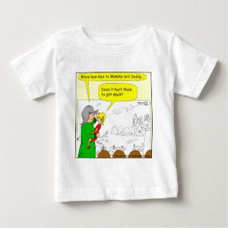 Flugzeug 417 erhält kleineren Cartoon Baby T-shirt