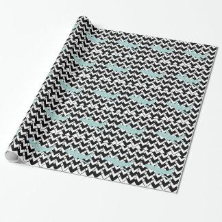 Flugzeug - abstraktes geometrisches Muster - Blau Geschenkpapier