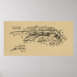 Flugzeug-Boots-Patent 1920, das Kunst-Druck Poster