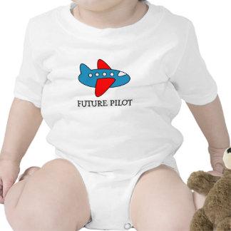 Flugzeug-Cartoon-Baby-Strampler für zukünftigen